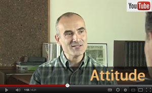 Screen shot from Attitude video from PEER Project resources