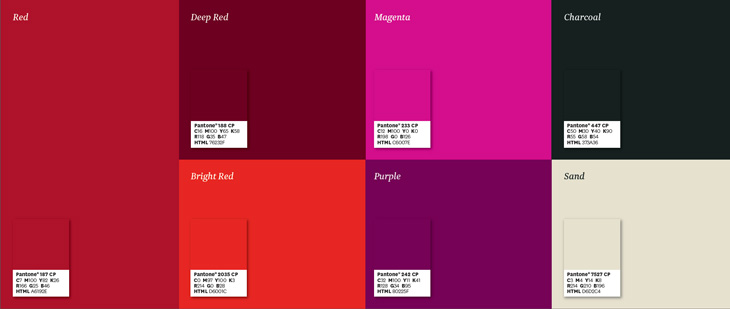Macquarie University brand colour palette